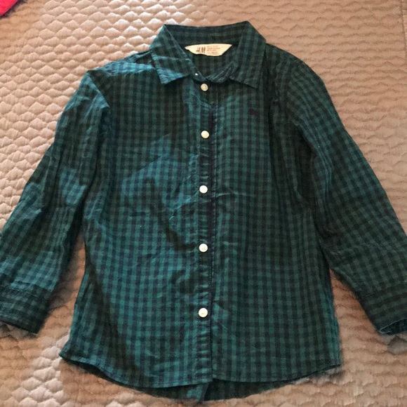 ca951f071fa H M Other - H M boys button down shirt green and navy
